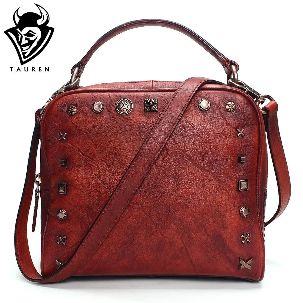 2018 Vintage Leather Crossbody Bags For Women Messenger Bags Women Famous Brand Handbags Rivet Small Shoulder Bags hot sale 2017 vintage cute small handbags pu leather women famous brand mini bags crossbody bags clutch female messenger bags