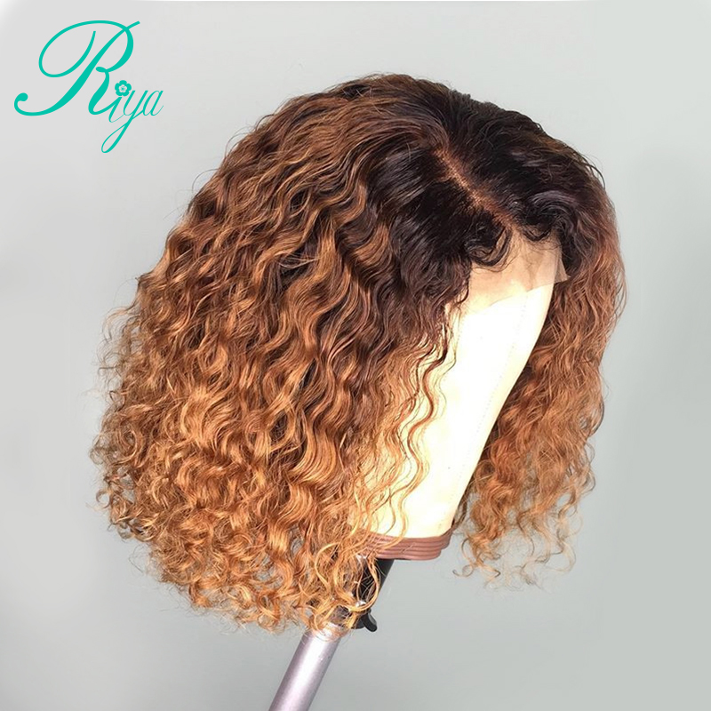 13x6 Curly Lace Front Human Hair Wigs With Baby Hair Bleached Knots Brazilian Remy Lace Frontal