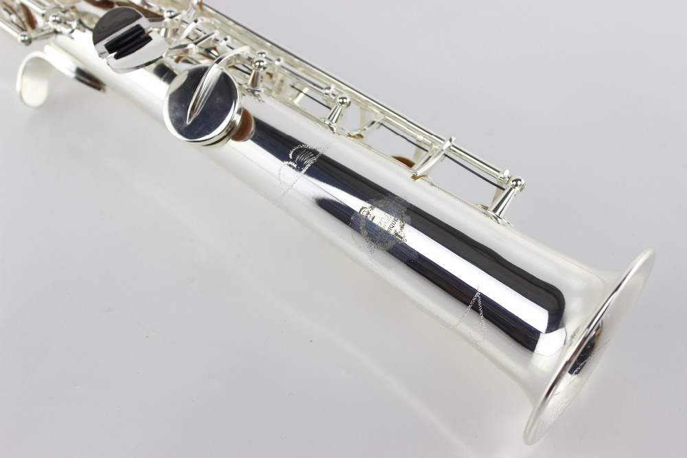 Professional B the soprano saxophone gold - straight on the surface of nickel plating soprano sax Nickel Plated bigbigroad for vw multivan car wifi dvr driving video recorder hidden type novatek 96655 car black box keep car original style