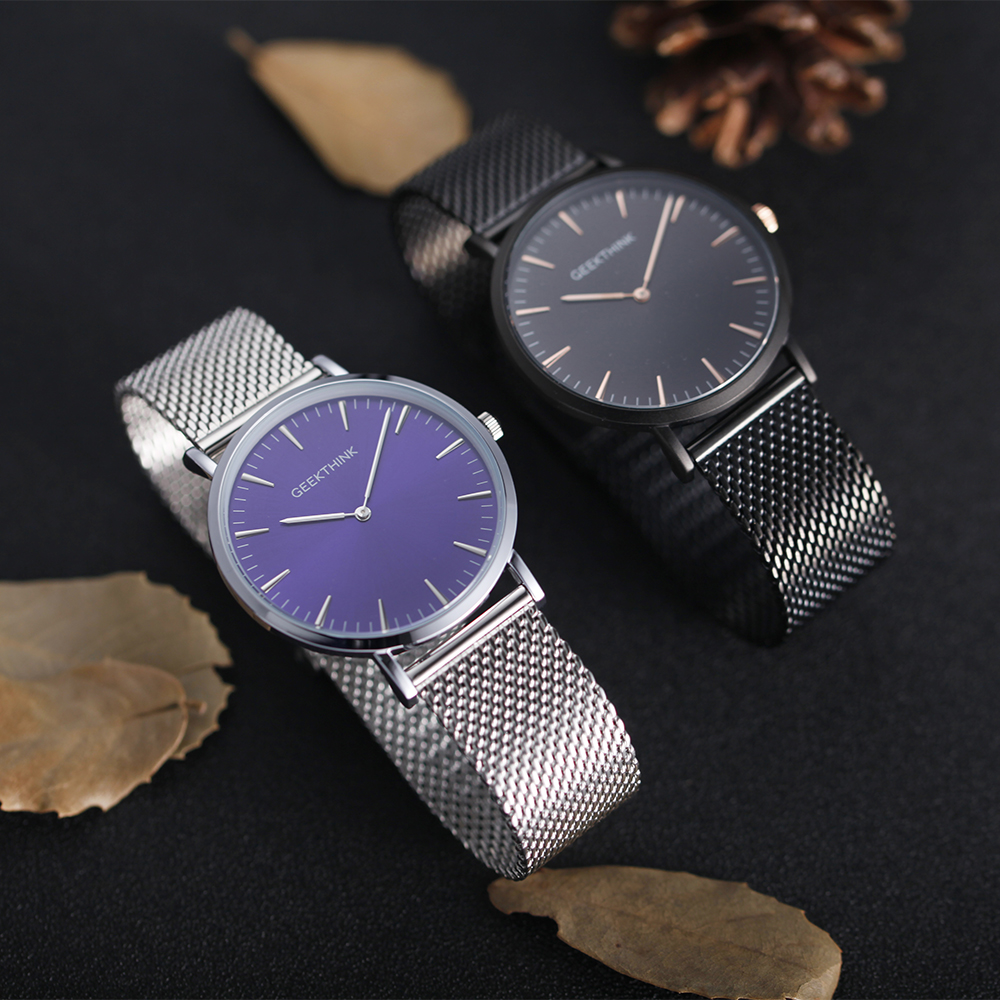 GEEKTHINK Top Luksus Brand Quartz Watch mænd Sort Casual Japan Movet - Mænds ure - Foto 6
