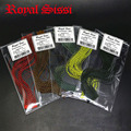Royal Sissi Hot 5colors/set grizzly barred round rubber legs/ stretch silicone skirts silicone flutter legs fly tying materials