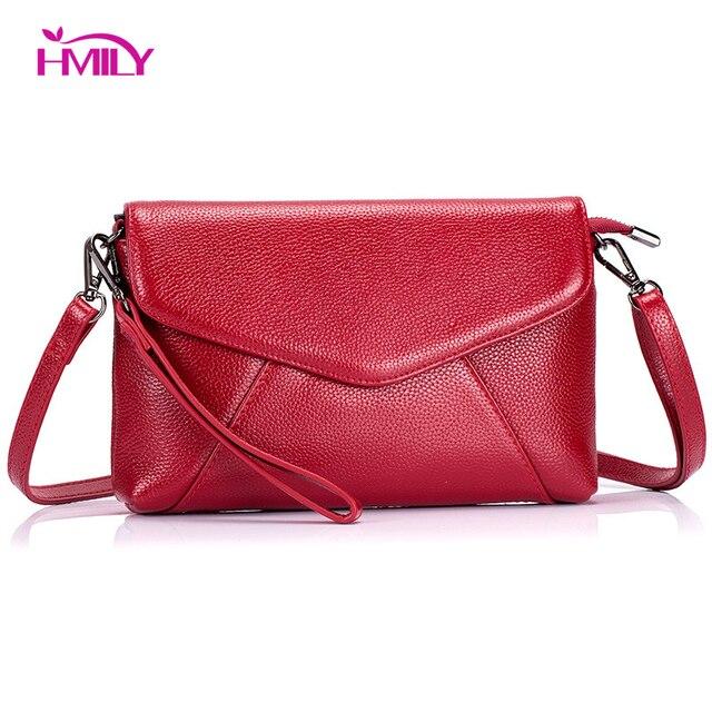 d2fdfa1aa4ef US $25.9 48% OFF|HMILY Women Bag Genuine Leather Female Messenger Bag  Envelope Design Ladies Crossbody Bag Daily Shopping Bag Natural Cowhide-in  ...