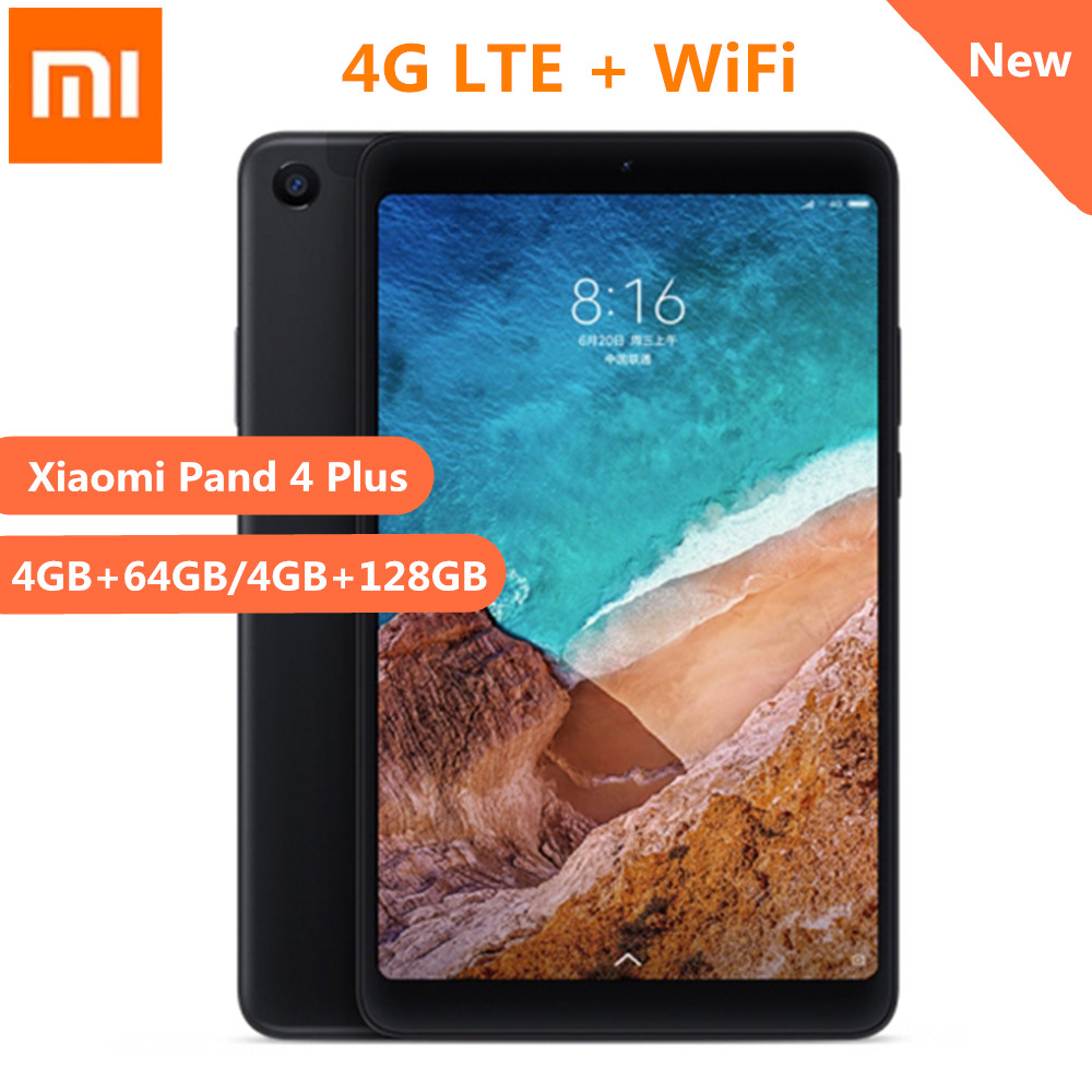Xiaomi Mi Pad 4 Plus 4G Phablet 10.1 Inch MIUI 9.0 Qualcomm Snapdragon 660 4GB 64GB Tablet PC Facial Recognition Cameras WiFi original xiaomi mi pad 4 tablets wifi lte 4gb 64gb 8 0 inch tablet pc snapdragon 660 aiecore 12 0mp 5 0mp 6000mah tablet android