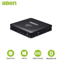 Bben Mini PC Core quad cores intel Z8350 Micro Computer HTPC Windows 10 LAN headset wifi USB3.0 usb2.0 2G/32G 4G/64G
