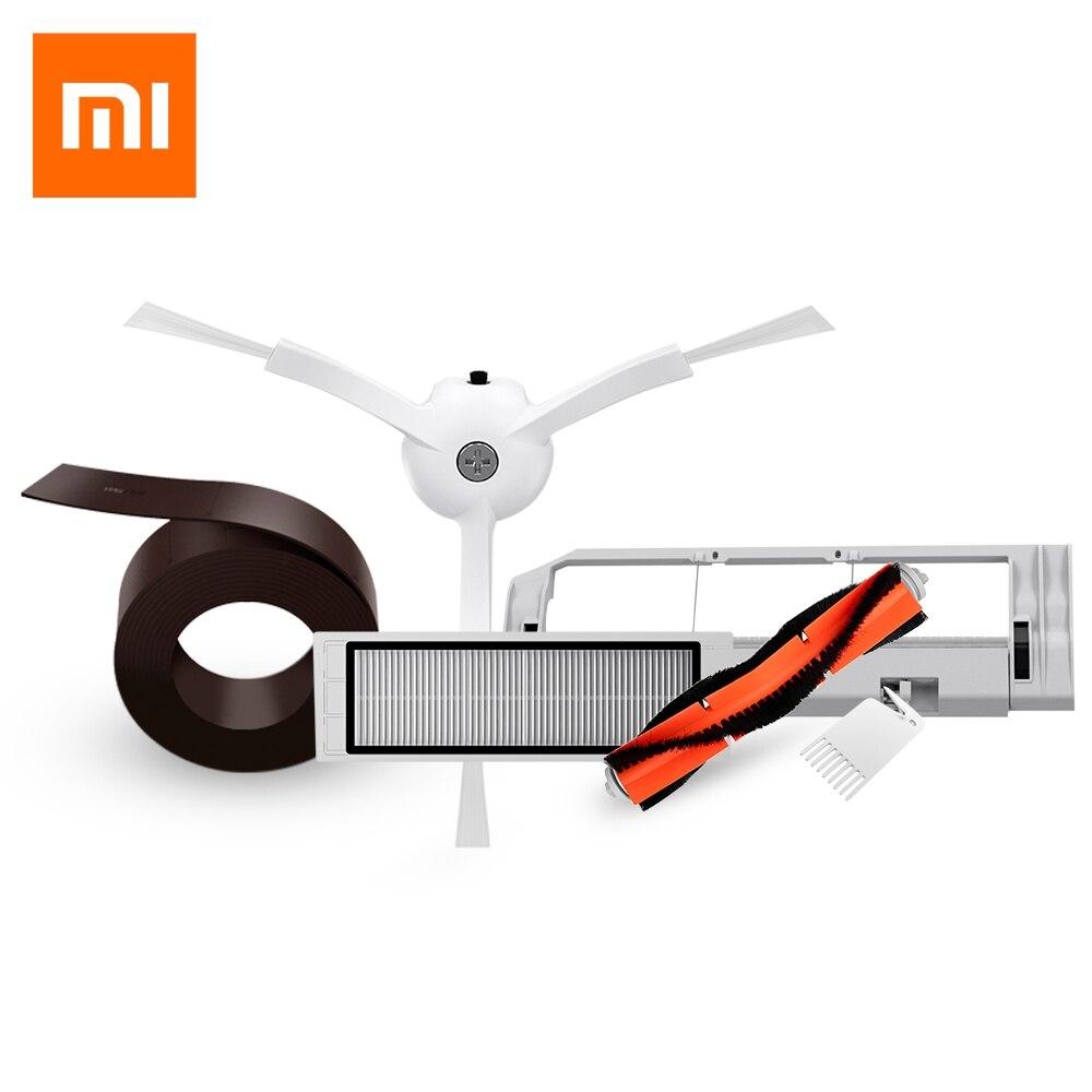 Original Wirtschafts Set 5 STÜCKE Xiaomi Mi Roboter Intelligente Reiniger Zubehör Unsichtbar Wand Seitenbesen Filter Roll Bush