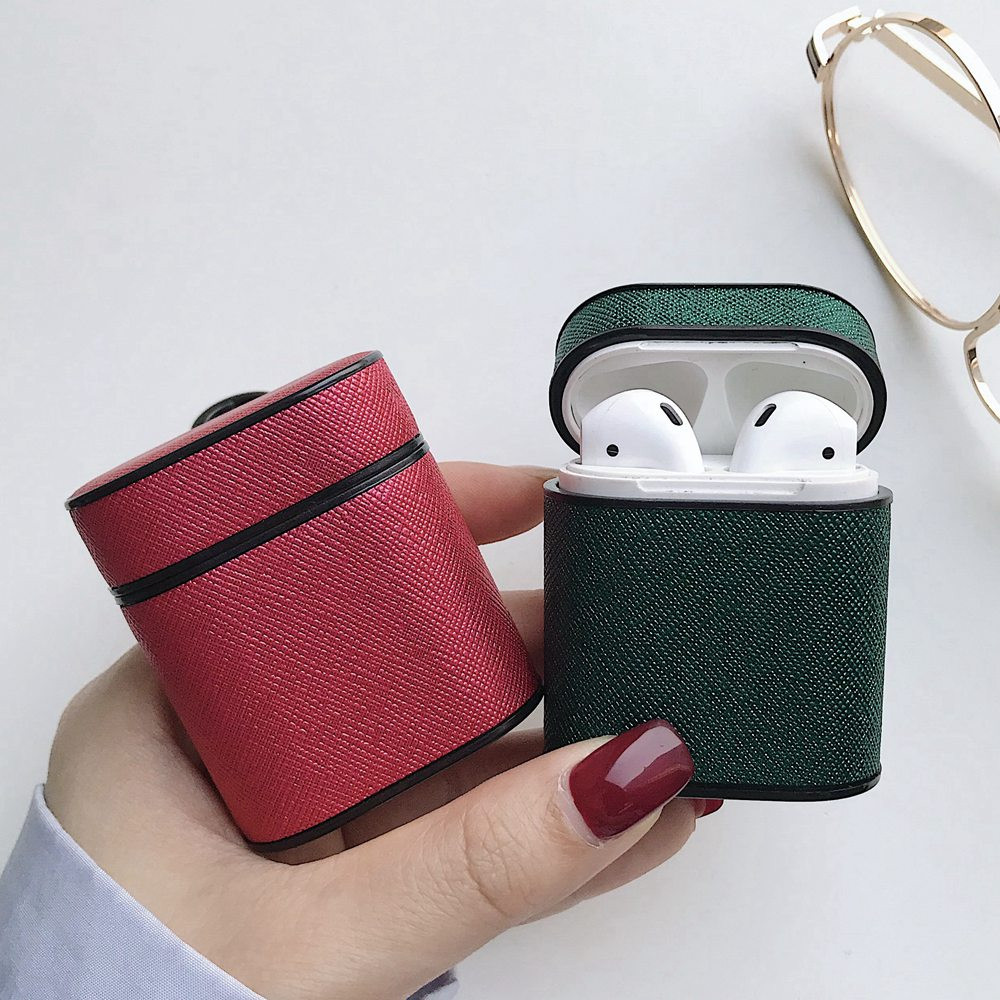 Luxury Leather Hook Case For Airpods Vintage Matte Cover Air Pods Bluetooth Earpods Earphone Accessories