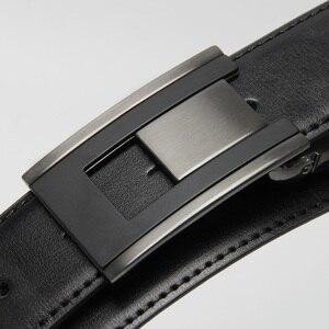 Image 3 - Luxo couro cinto masculino placa fivela reversível masculino casual alta qualidade cintos dropship fornecedores preto marrom
