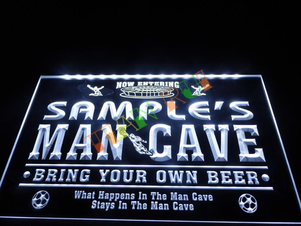 DZ034 Name Personalized Custom Man Cave Soccer Bar Beer