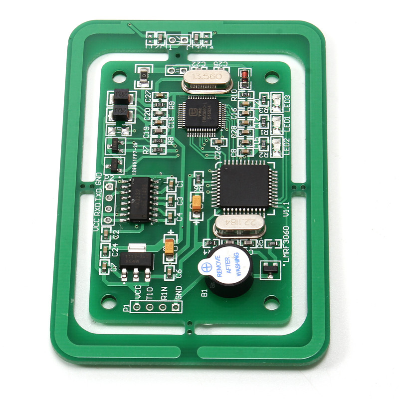 5 V RFID Module Multi-Protocole Lecteur de Carte Écrivain Module LMRF3060 En Développement Conseil UART/TTL Interface