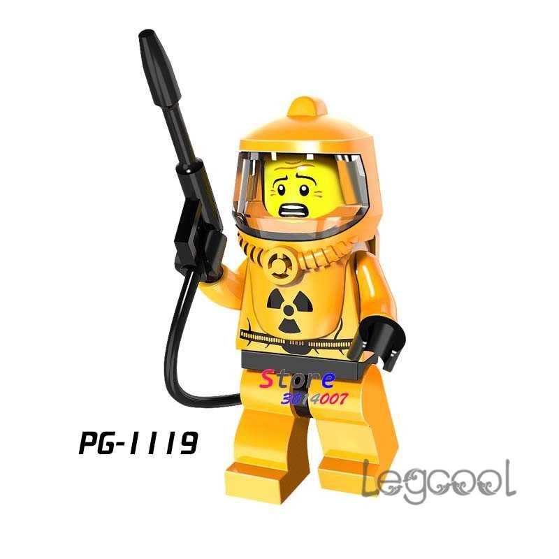 1 sztuk model building blocks akcja superbohaterowie zestaw pracowników jądrowych kolekcja klasyczne diy zabawki dla dzieci prezent