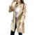 Las mujeres del otoño elegante larga trinchera Doble capa de cordón de la cintura delgada de un solo botón cazadora femenina floja capa De Oficina