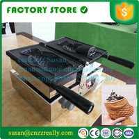 Electric Taiyaki open mouth ice cream fish waffle machine; Taiyaki Fish Waffle Maker Machine Baker
