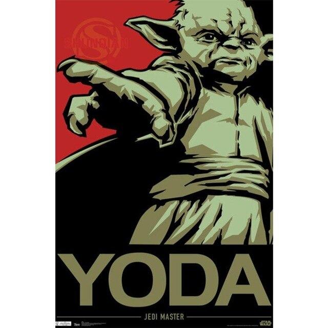 US $3.07 25% OFF|Besten Nizza Benutzerdefinierte Kühle Star Wars Yoda  Plakat Gute Qualität Wandplakat heimtextilien Silk Poster Für Schlafzimmer  cd % ...