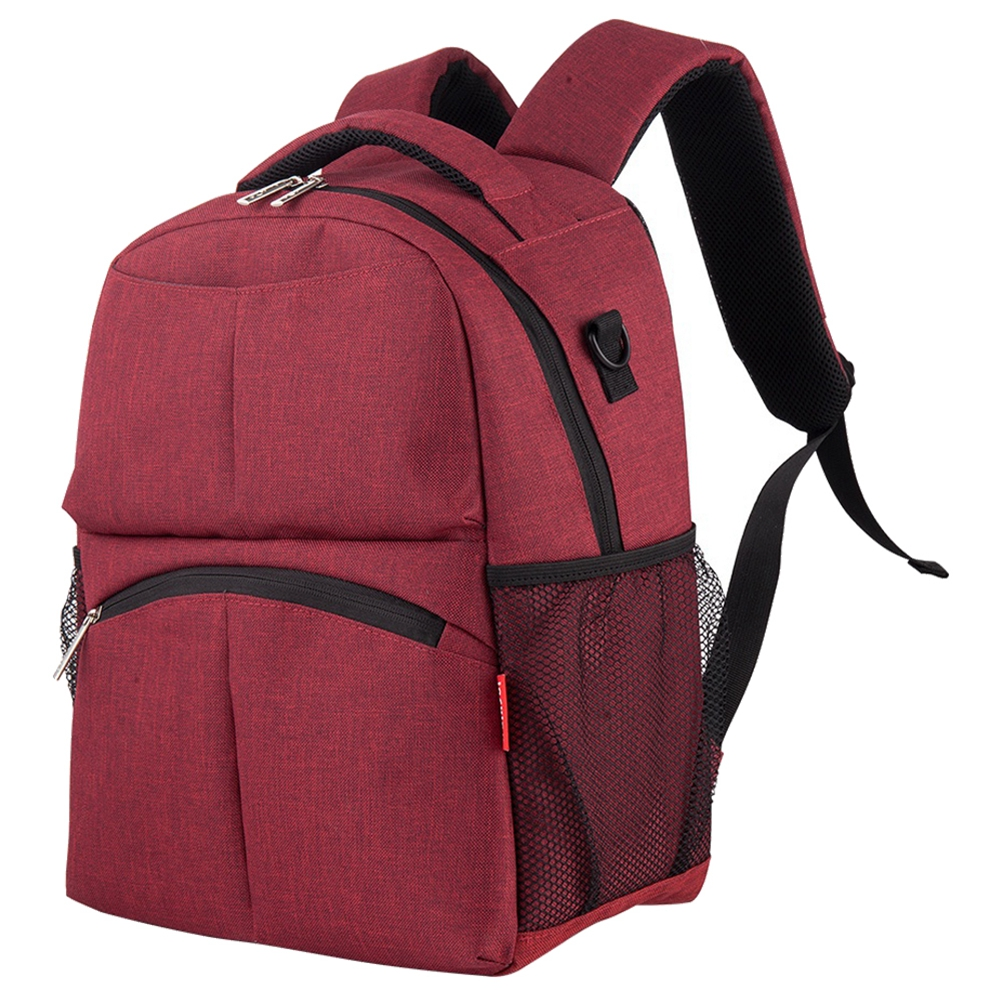 insular Fashion large capacity mommy baby diaper backpack Red