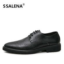 Men Lace-Up Leather Casual Shoes Male Business Breathable Shoes Fashion Summer Pointed Toe Oxfords Comfortable Shoes AA12290