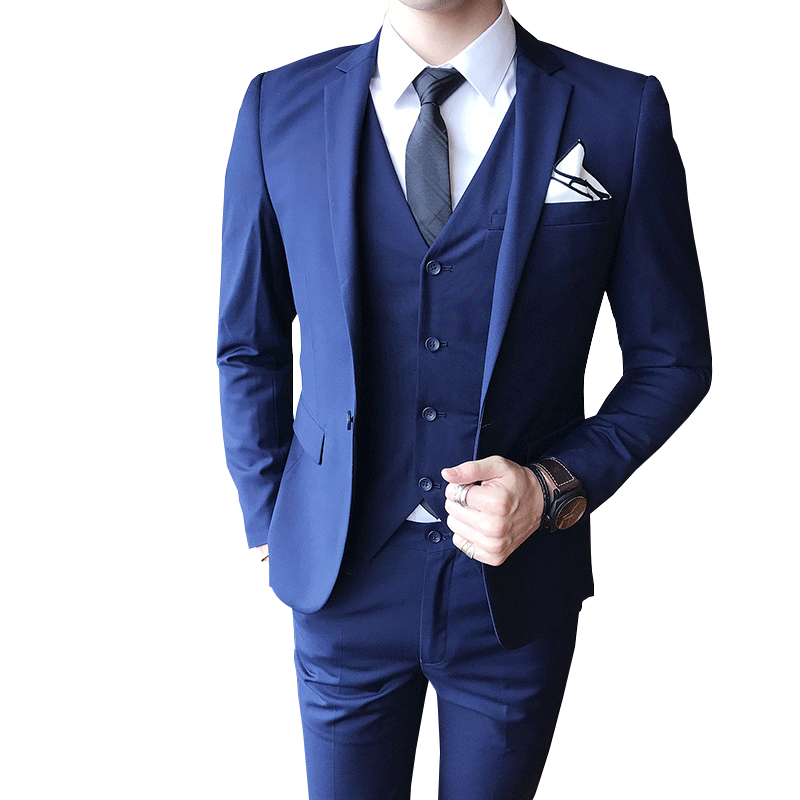 Men's Suit (jacket + Pants + Vest) Luxury Men's Wedding Suit Men's Slim Suit Men's Clothing Business Social Dress Party Dress