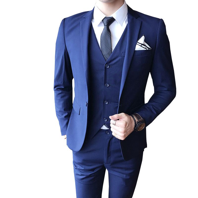 Men's Suit (jacket + Pants + Vest) Luxury Men's Wedding Suit Men's Slim Suit Men's Clothing Business Social Dress Party Dress