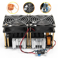 1800W ZVS Durable DIY Black Convenient Module Plate Coil High Frequency PCB Stable Induction Heating Board Dual Fans Low Voltage