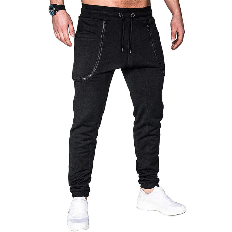 Men Pocket Pure Color Overalls Casual Pocket Sport Work Casual Trouser Pants Sports Running Accessories Pants 40LY05 (11)