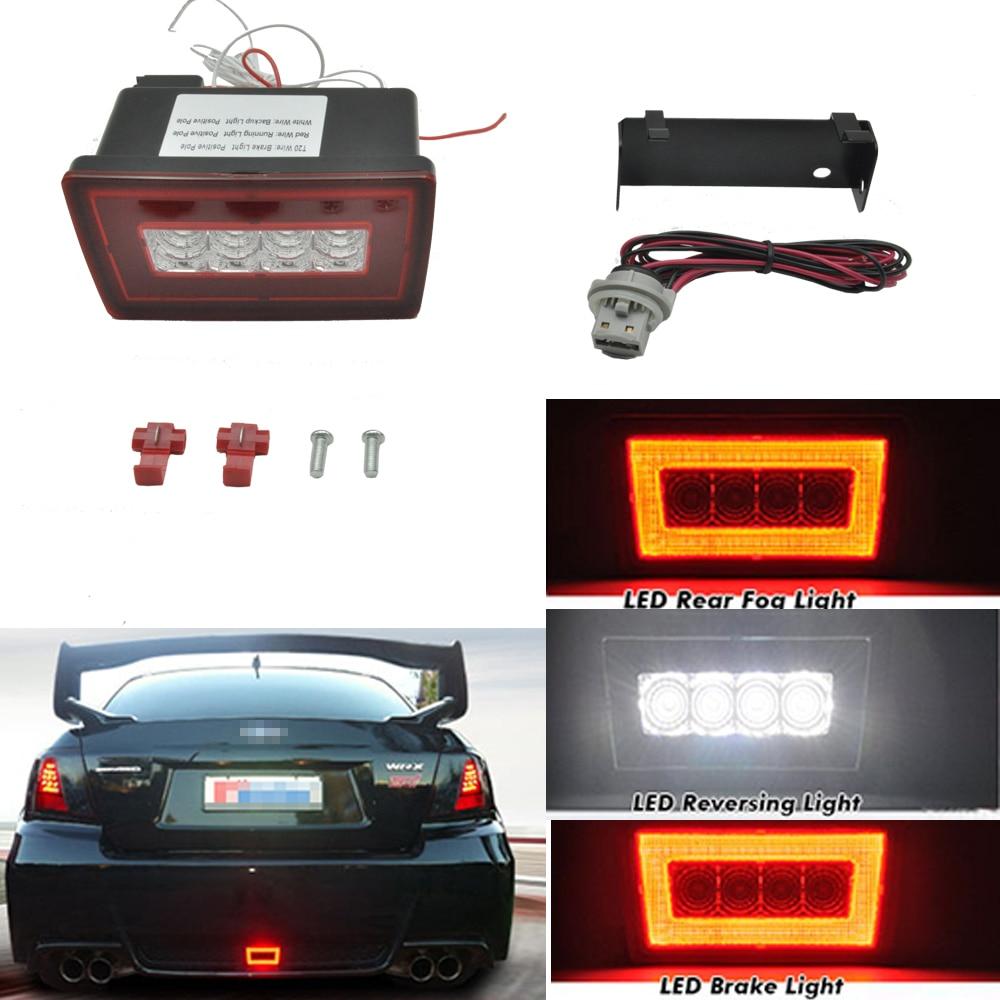 赤 + 白レンズ 3 · イン · 1 導いブレーキリバーススバルインプレッサ WRX STi XV  グループ上の 自動車 &バイク からの カーライトの組み立て の中 1