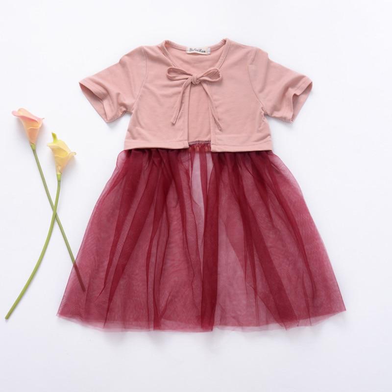GGBAOFAN Jacket Cardigan Baby-Girl Summer for 1-4y-Wear Stitching Mesh Children's