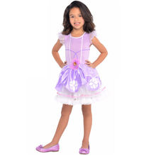 Girls princess sofia the first costume Tutu dress child's Fancy kids halloween up Size 4-6 years