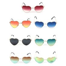 Heart Shape Sunglasses Metal Golden Frame Reflective Mirror Colorful Lens Female все цены