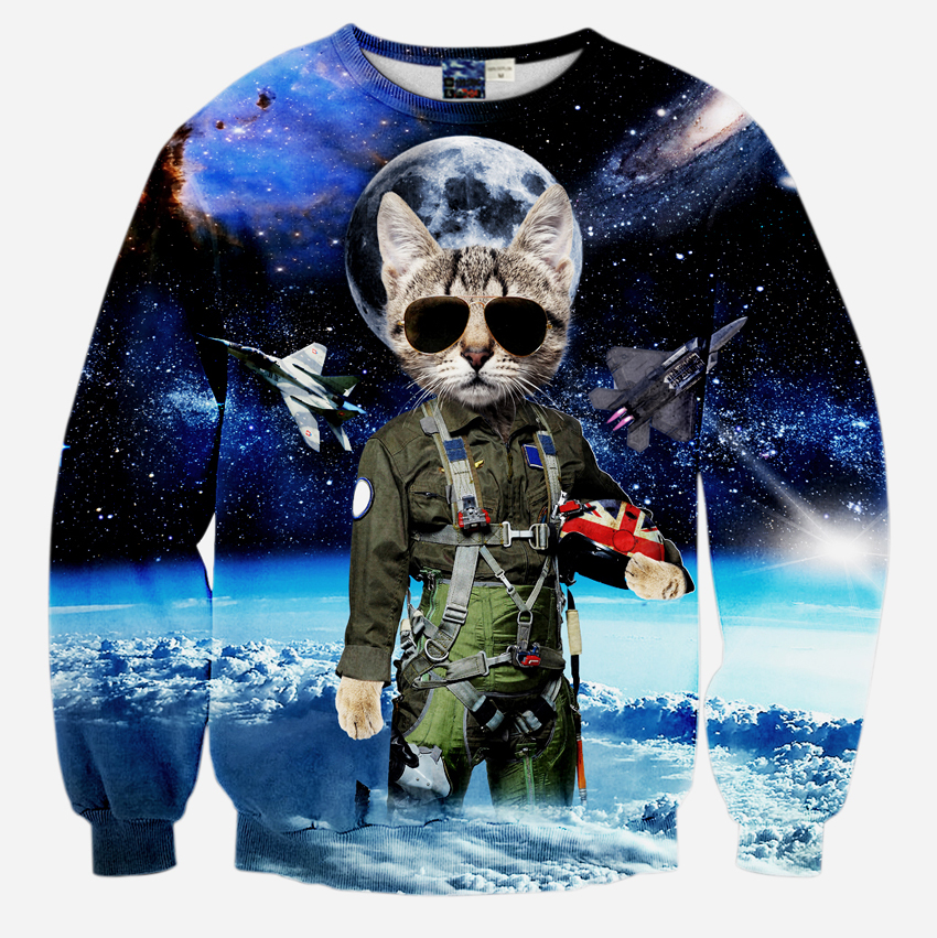 2018 New Arrival 3D Sweatshirts Hoodies Men Starry Sky Design Printed Polyester O-Neck Casual Long Sleeve S to XL Mr.1991INC