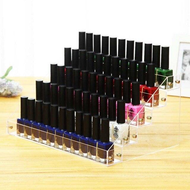 5 Layers Nail Polish Display Rack, Acrylic Nail Polish Bottles Holder, Nail  Salon Equipment