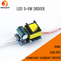 Free shipping 300mA (3-5)x 1W Led Driver 3W 4W 5W Lamp Light Driver Power Supply Lighting Transformer for E27/E14 LED lights