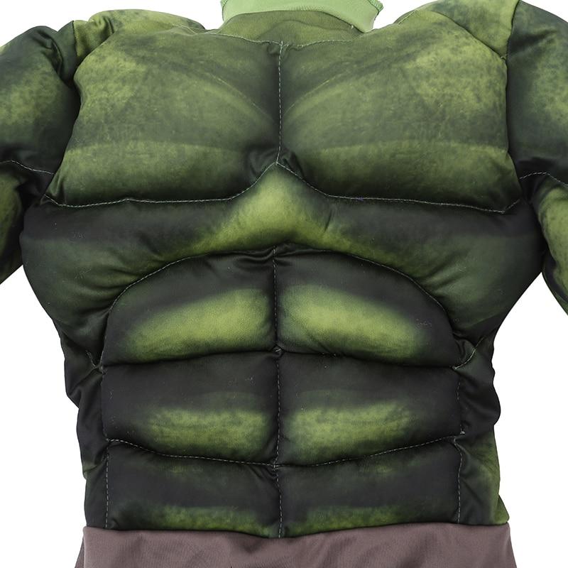 Fabrika Birbaşa Satış Oğlanlar Hulk Muscle Cosplay Geyim Uşaqlar - Karnaval kostyumlar - Fotoqrafiya 4