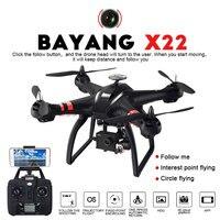 Профессиональный Drone BAYANGTOYS X21 X22 бесщеточный двойной gps WI FI FPV Quadcopter с 1080 P HD Камера 3D оси регулируемой подвеске