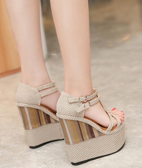 BONJEAN Nieuwste Platform Wedge Sandalen Voor Vrouw Sexy Open Teen T strap Gladiator Sandaal 16 cm Super High Party jurk Hakken - 2