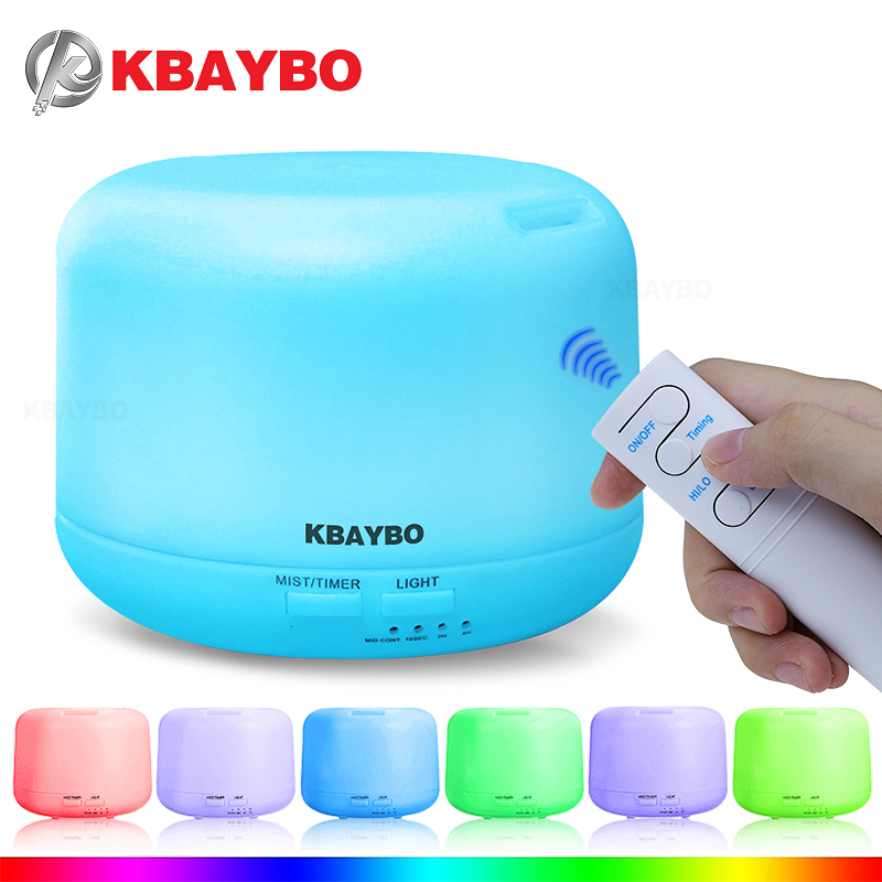 KBAYBO 300ML Electric Ultrasonic Air Humidifier USB Aromatherapy Essential Oil Aroma Diffuser with Remote Control 7 Color LightsKBAYBO 300ML Electric Ultrasonic Air Humidifier USB Aromatherapy Essential Oil Aroma Diffuser with Remote Control 7 Color Lights