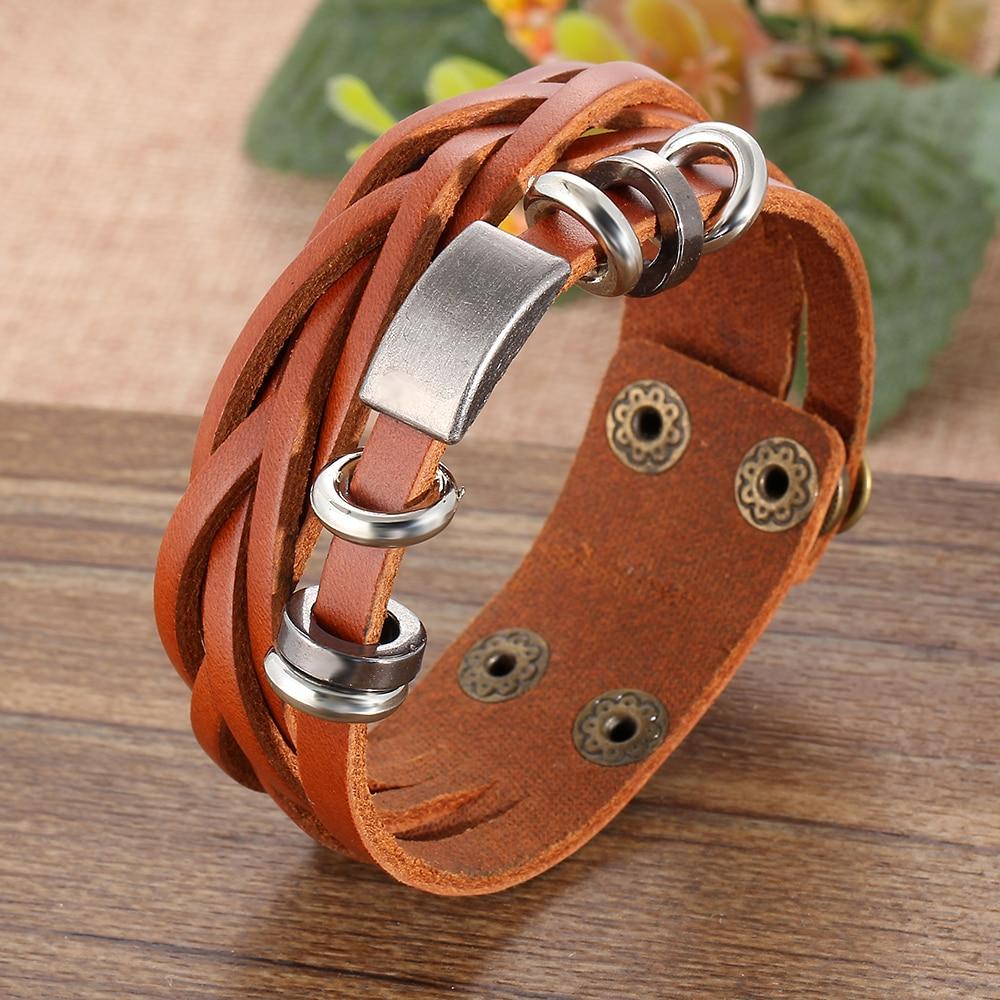 IF ME Nye enkle lær armbånd menn smykker mote wrap armbånd - Mote smykker - Bilde 2