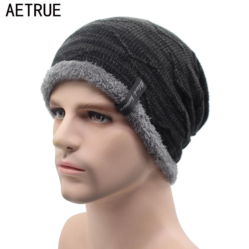 Punto hat skullies gorros hombres sombreros de invierno para hombres Bonnet  mujeres moda gorras caliente baggy marca suave casquillo llano Beanie  sombrero ... 126dac8c468