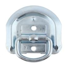 1 قطعة لحام على D حلقة التعادل أسفل المراسي عالية القوة المعادن D خواتم مع مقاطع لحام لشاحنة مقطورة RV السيارات و ATV الخ