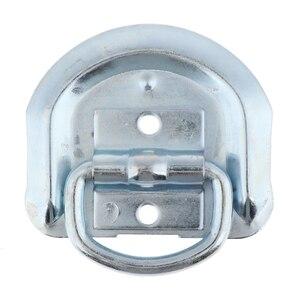Image 1 - 1 шт. сварное D образное кольцо, зажимные анкеры, высокопрочные металлические D образные кольца со сварочными зажимами для прицепа, грузовика, автофургона, вездехода и т. д.