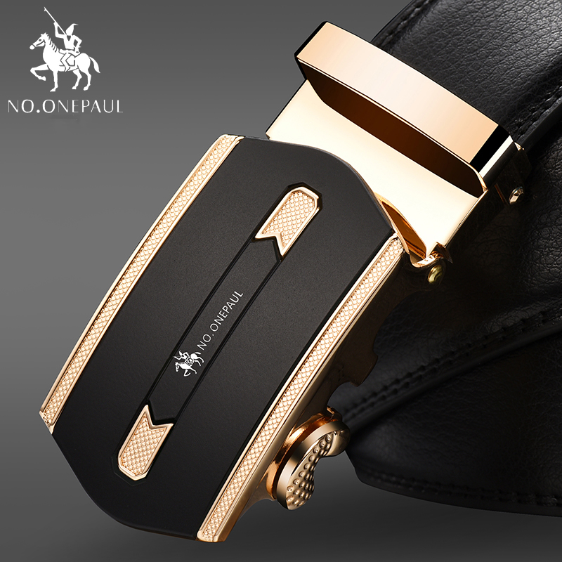 NO.ONEPAUL High Quality Automatic Buckle Belt Man Strap Cinturones Hombre New Arrival Designer Genuine Leather Men Belts
