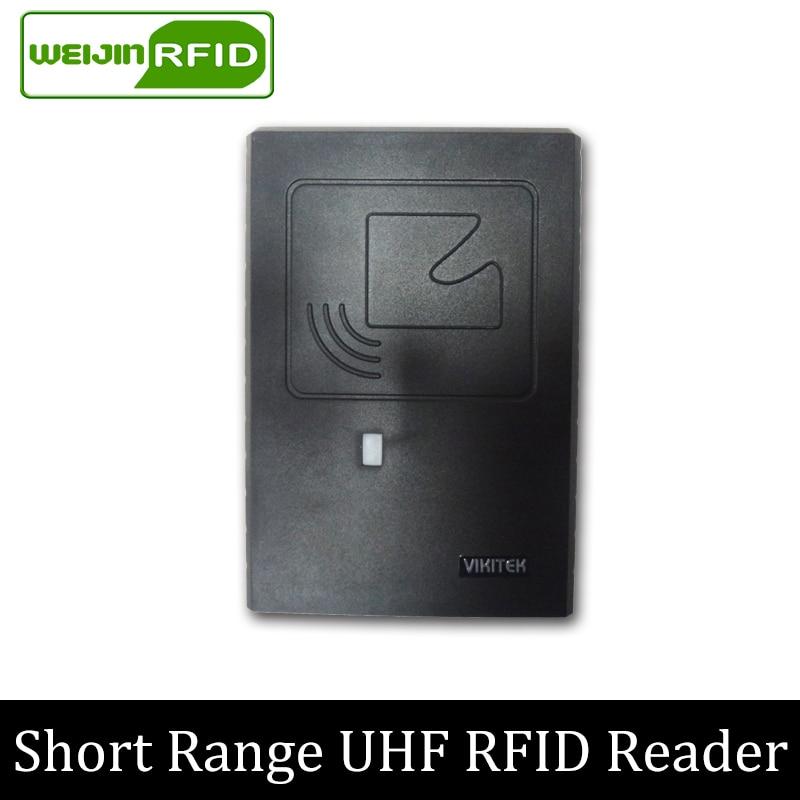 Lecteur UHF RFID rs232 485 ethernet VIKITEK 61 S lecteur intégré à courte portée utilisé ligne de Production et contrôle d'accès