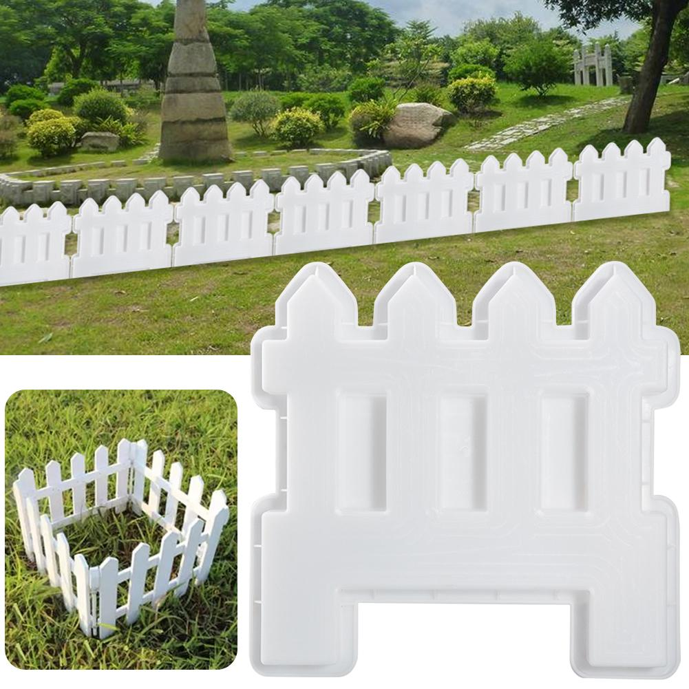 Small Fence Plastic Mold Concrete Cement Garden Pool Floor Tile Fence Flower Pool Brick Plastic Mould Lawn Yard Craft Decoration
