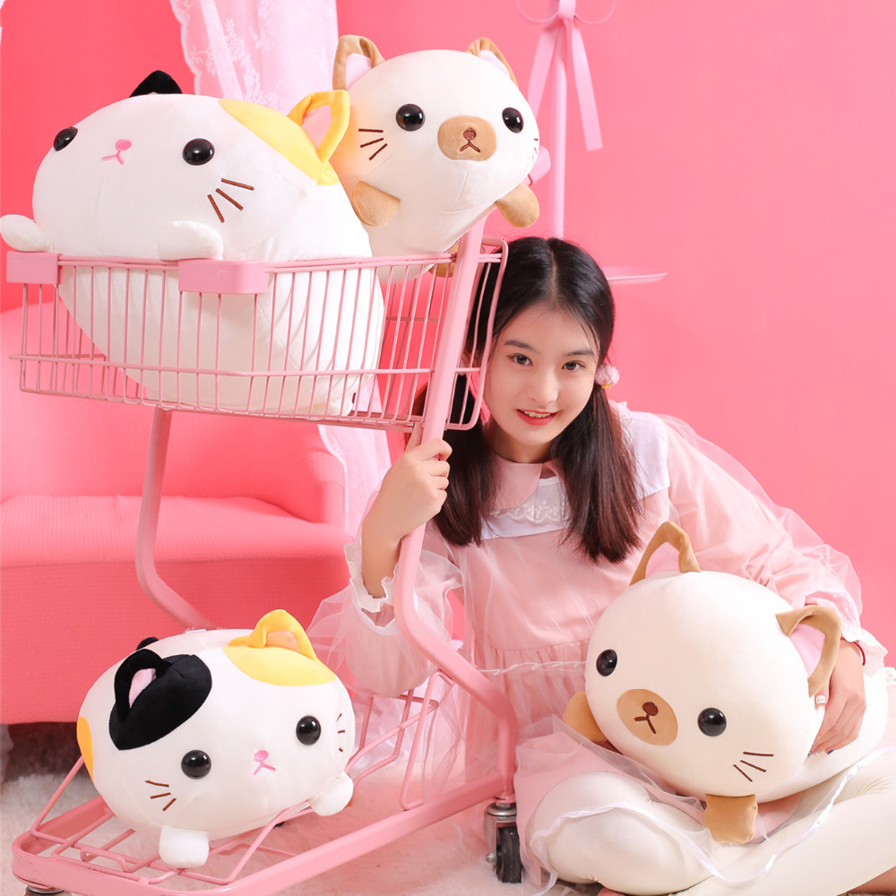 1pc 45cm Amuse Fat Cat Plush Toy Plush Toys for Children Japanese Soft Plush Cat Baby Stuffed Animals Cat Gifts birthday Presen in Stuffed Plush Animals from Toys Hobbies