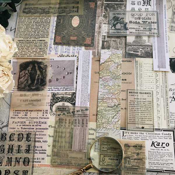54Pcs/pack Vintage Old Posters A Vellum Paper Pack For DIY Scrapbooking Planner Card Making Journal Project