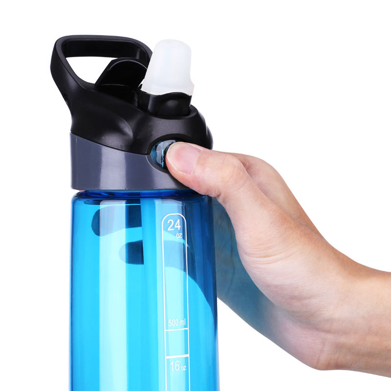 700ml / 24 oz Botol Air Sukan Tritan Untuk Teh Air dengan Jerami - Dapur, makan dan bar - Foto 3