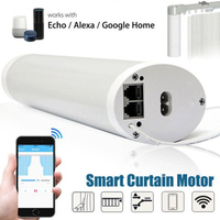 smart wifi curtain motor Open Closing Motorized Motor work with Alexa/google control silent quality S track electric curtain