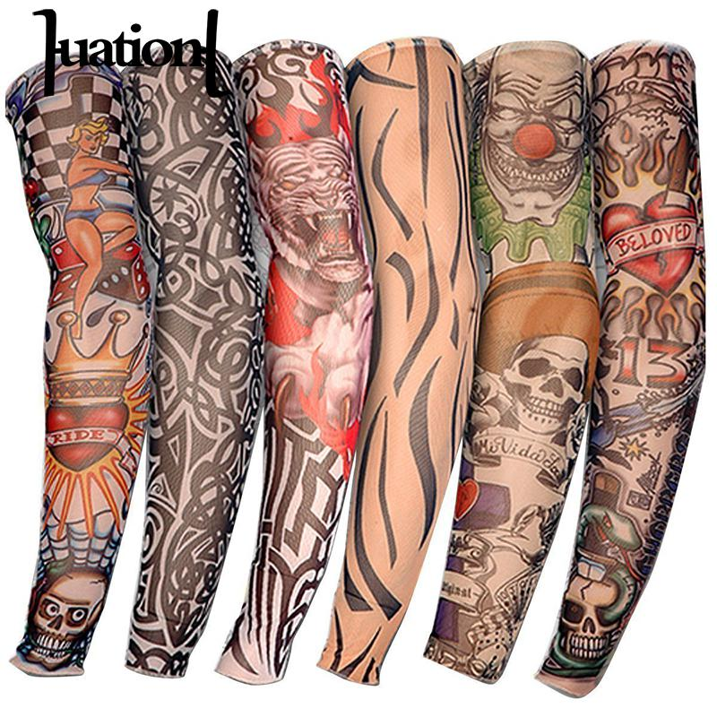 Huation 1pcs 2019 Hot Cycling Sports Tattoo Uv Cool Arm Sleeves Cycling Running Arm Warmer Sport Elastic Oversleeve Arm Warmers Limpid In Sight Apparel Accessories
