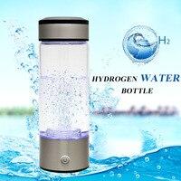 380ML Rechargeable Hydrogen Rich Hydrogen Water Generator Electrolysis Hydrogen Rich Antioxidant Electrolyte Bottle