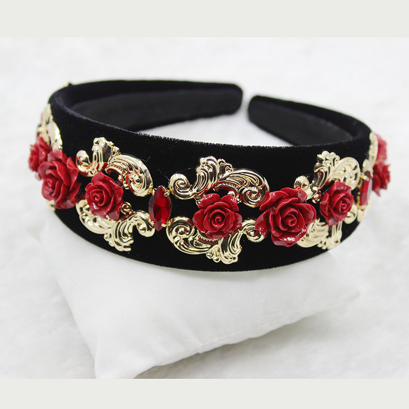 Flower headband tiara Baroque broadside retro headband bridal hair clip headband tiara 721 все цены