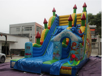 8 4 5M Best Selling Outdoor Sport Games Exciting Inflatable Dry Slide For Kids And Adult