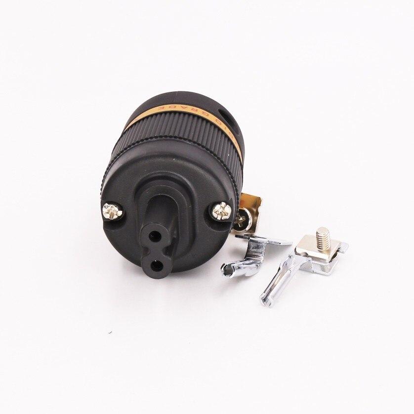 Cordon d'alimentation Viborg Audio pur cuivre rhodié Figure 8 prise IEC C7 prise hifi IEC